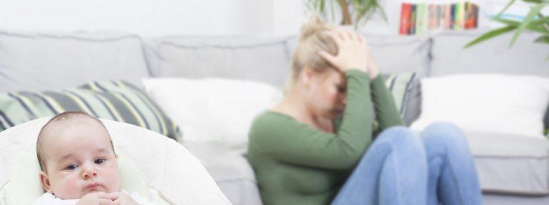 La depresión de la mujer antes y después del parto